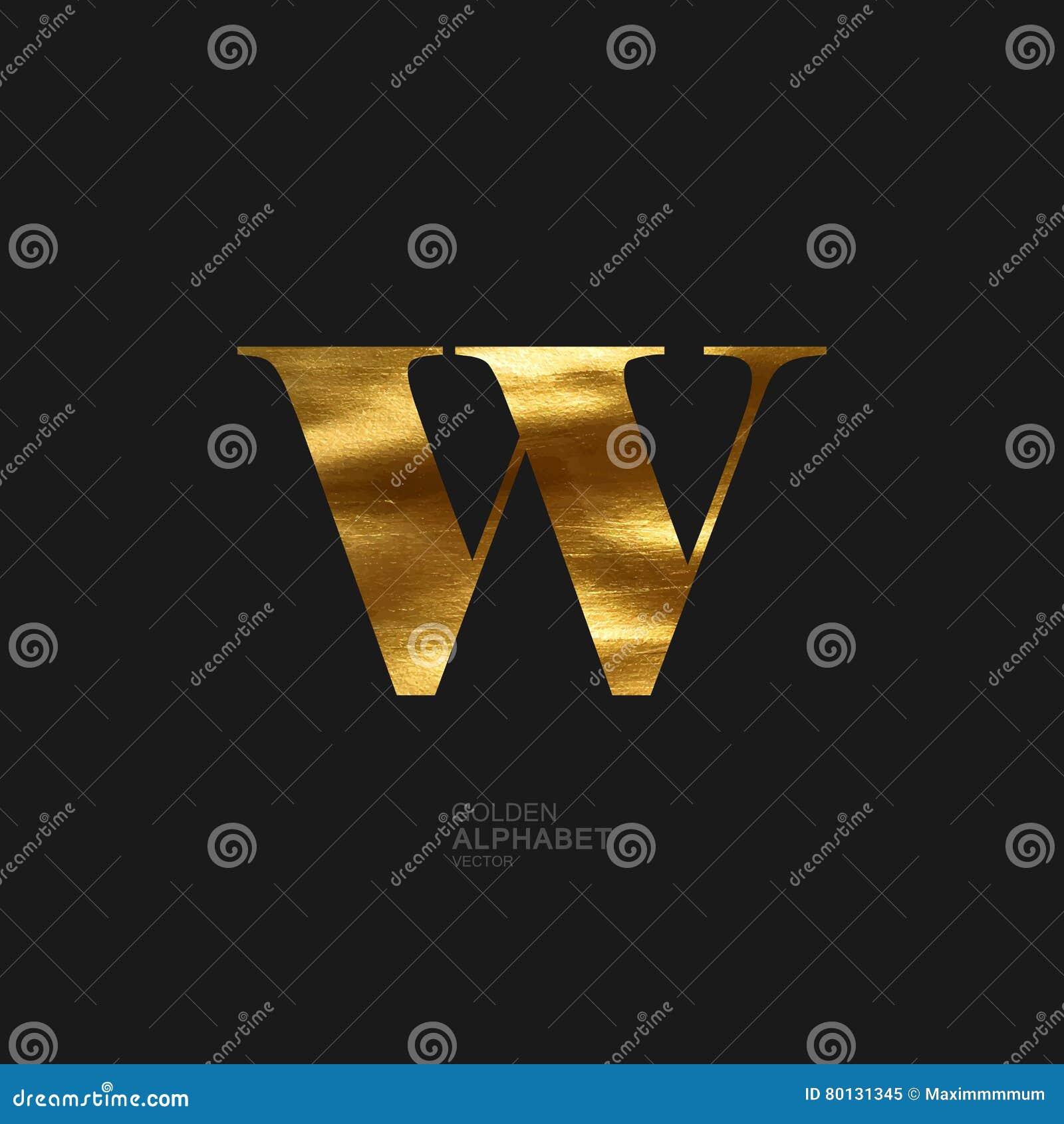 Golden letter W