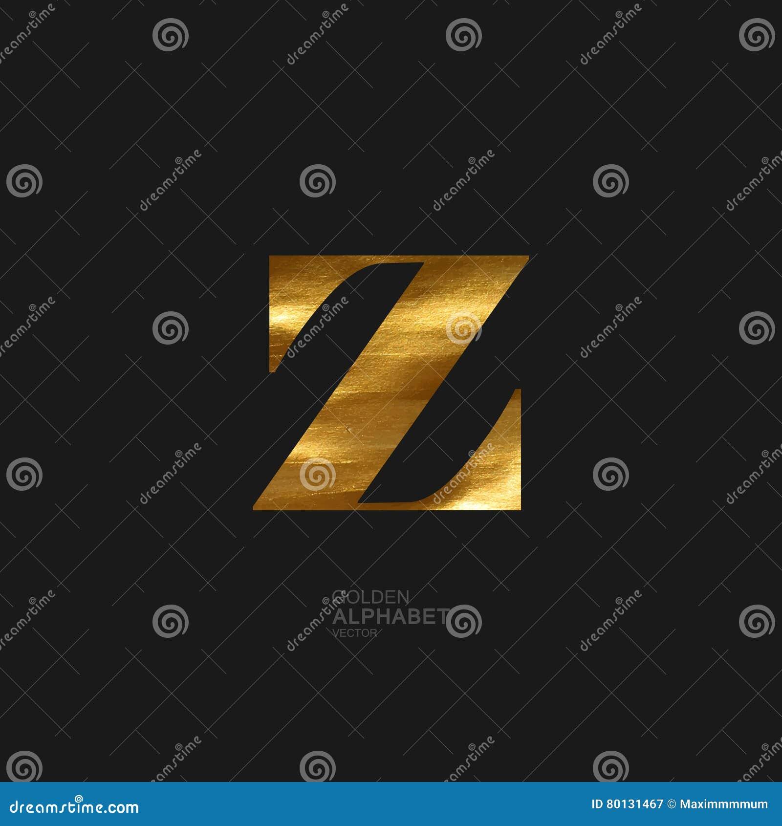 Golden letter Z