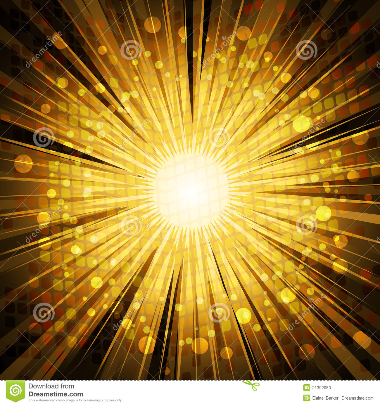 Golden Light Explosion Background Stock Photos Image