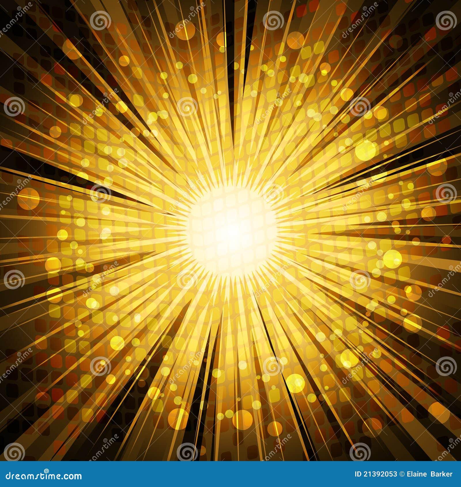 Golden Light Explosion Background Stock Vector ...