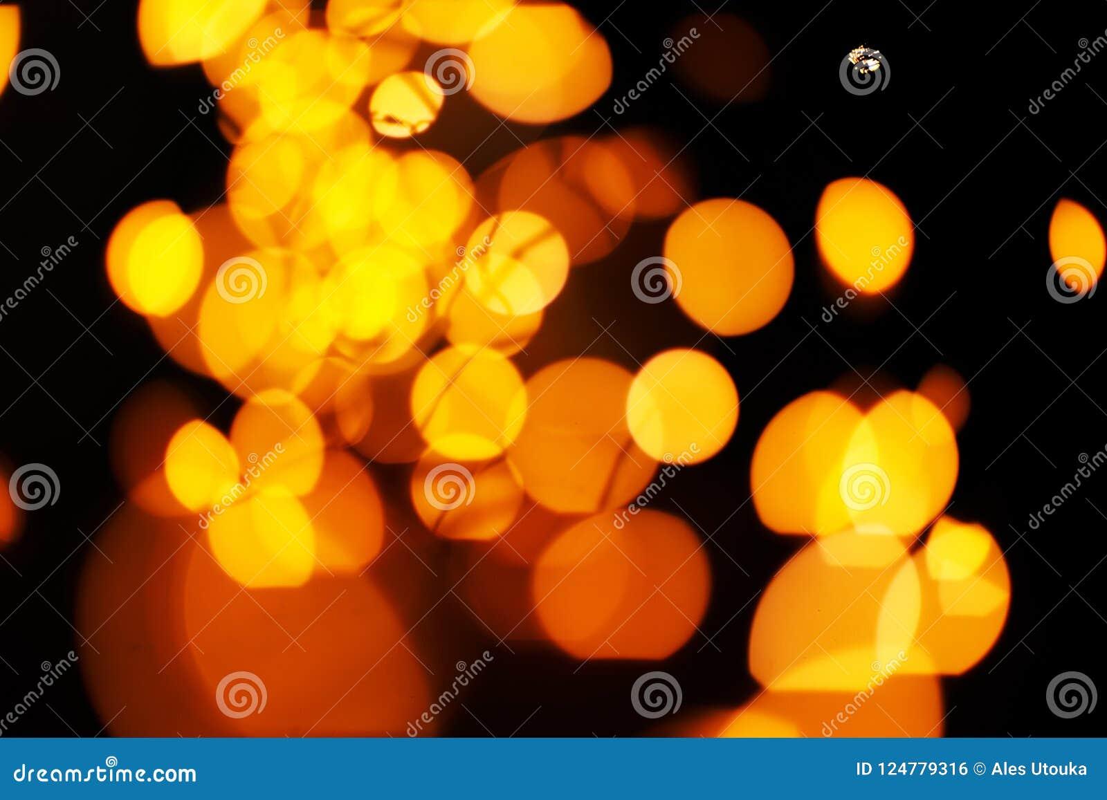 golden lights background christmas lights concept