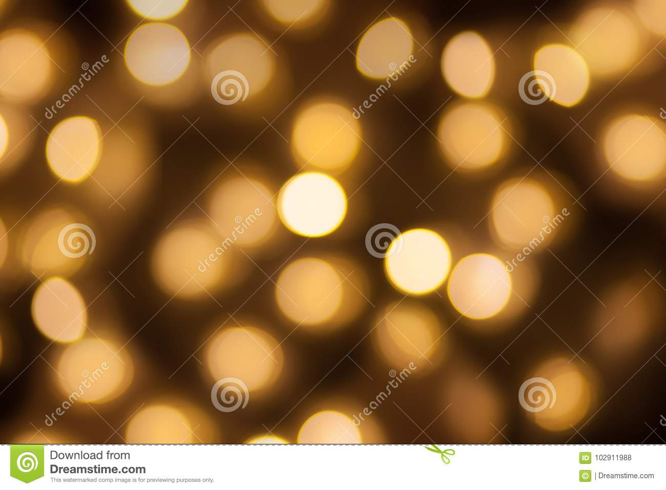 Golden lights bokeh blurred background, abstract beautiful blurry silver Christmas holiday party texture, copy space