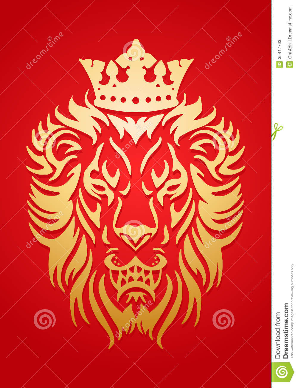 Lion king with crown - photo#9