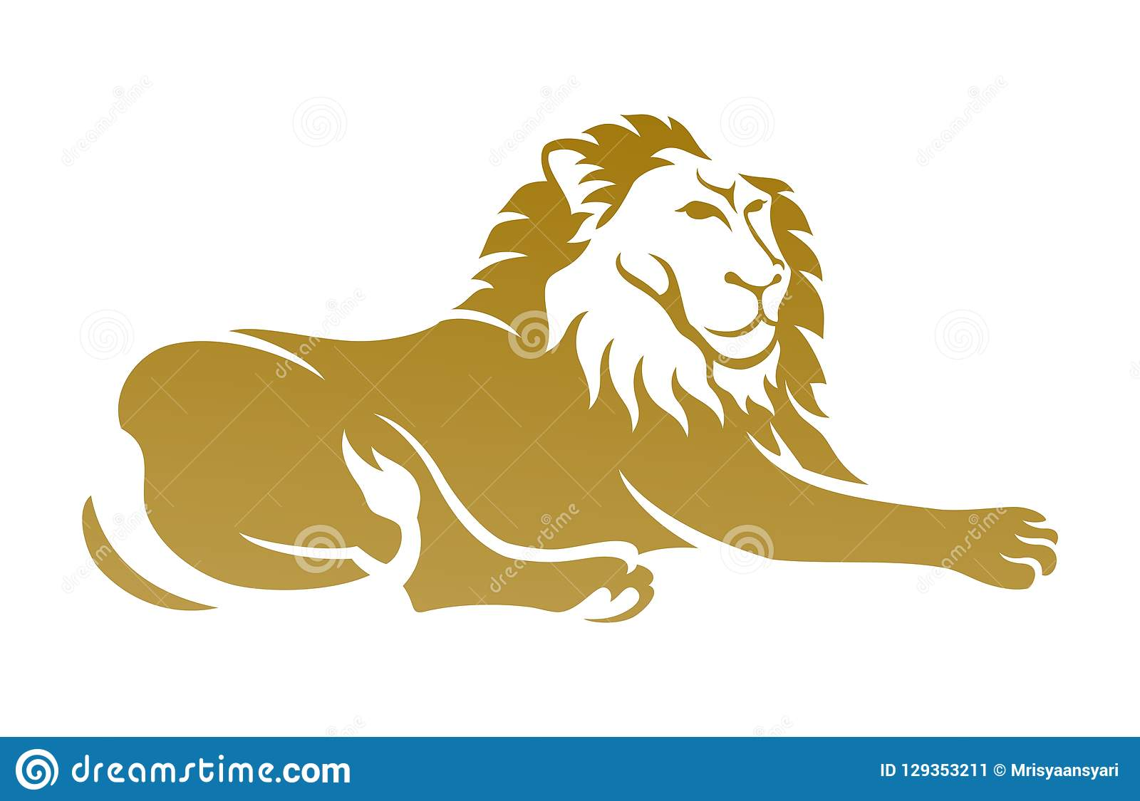 Lion Clipart Stock Vector Illustration Of Editable 129353211