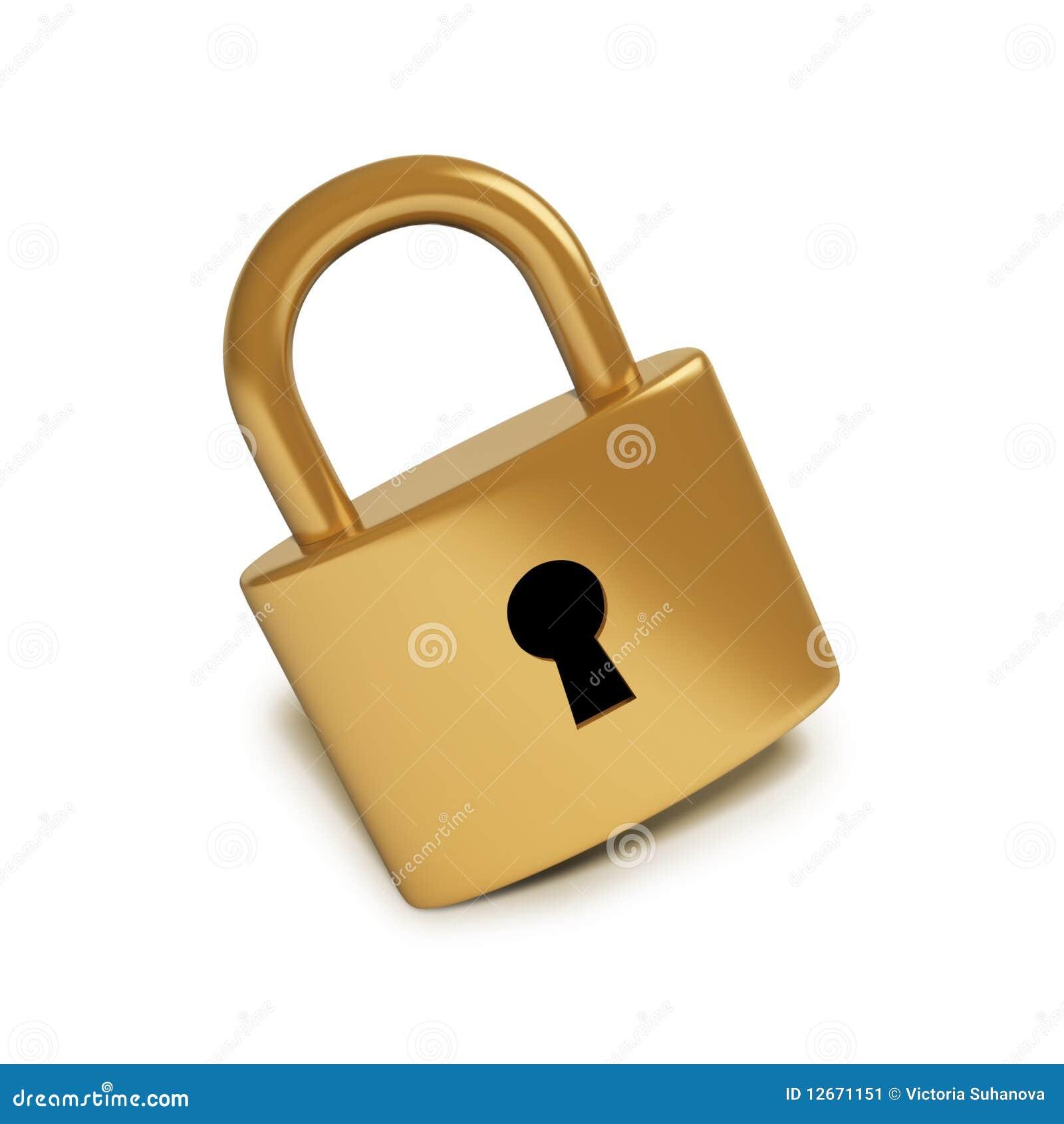 Golden Lock Stock Image Image 12671151