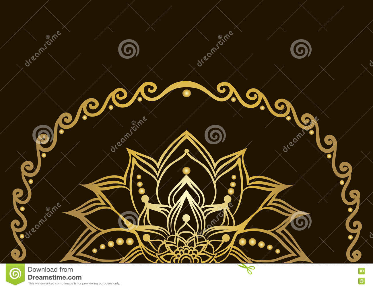 Drawing Lines With Gradients : Golden lotus flower stock photo cartoondealer