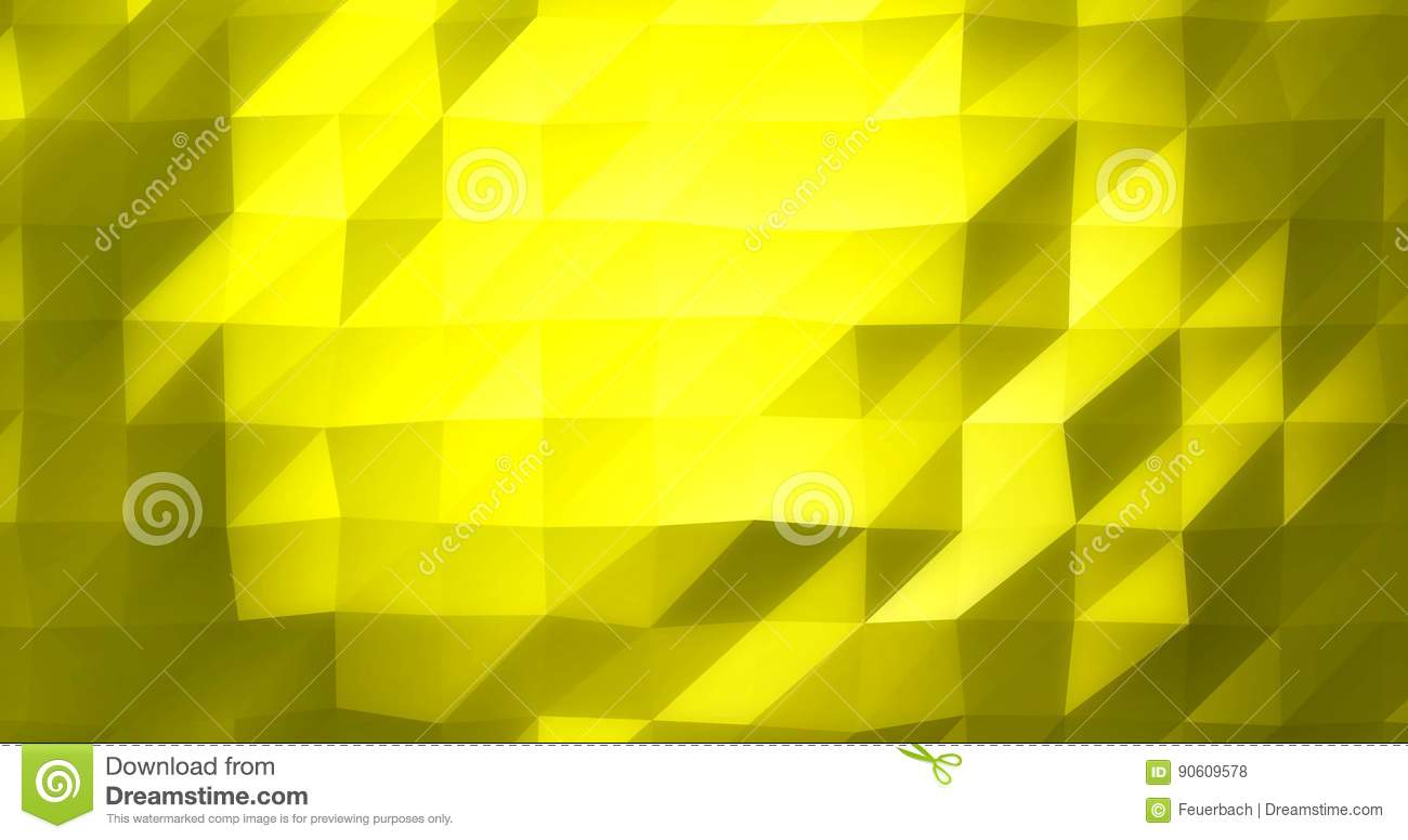 Golden Low Poly Glowing Geometric Background As 4k Rendered