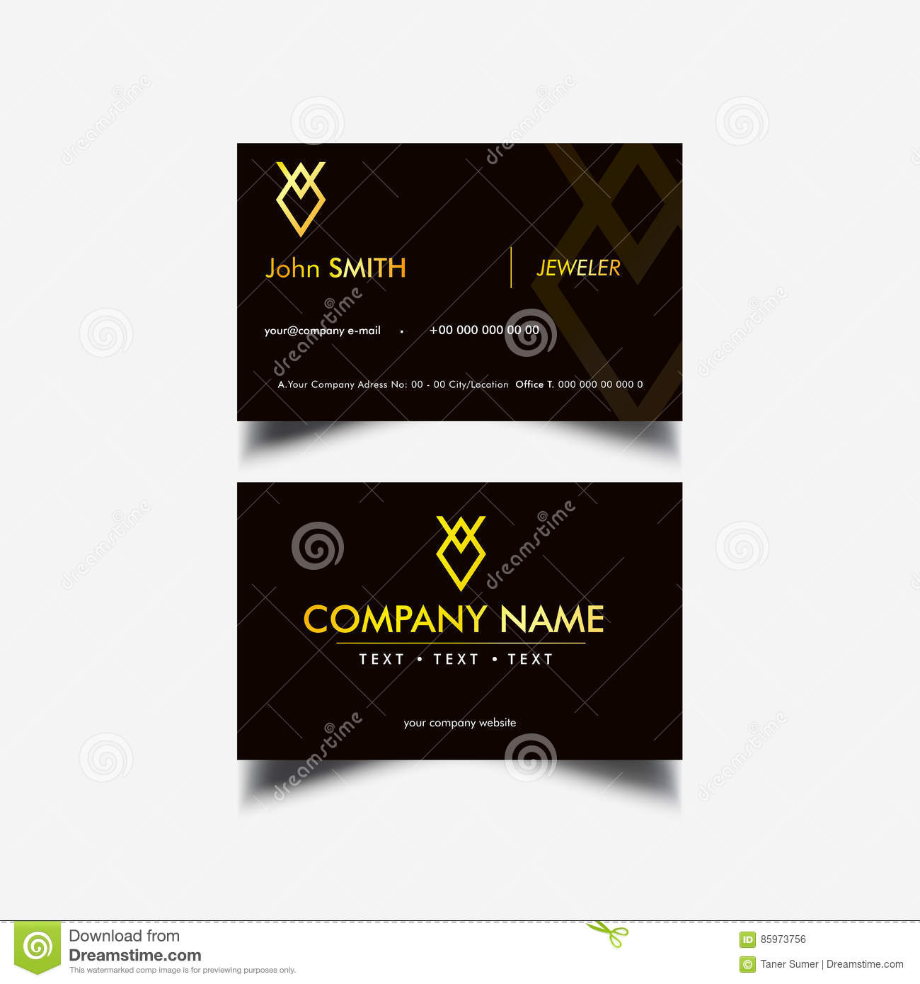 Golden luxury business card stock vector illustration of card golden luxury business card presentation black royalty free vector reheart Image collections