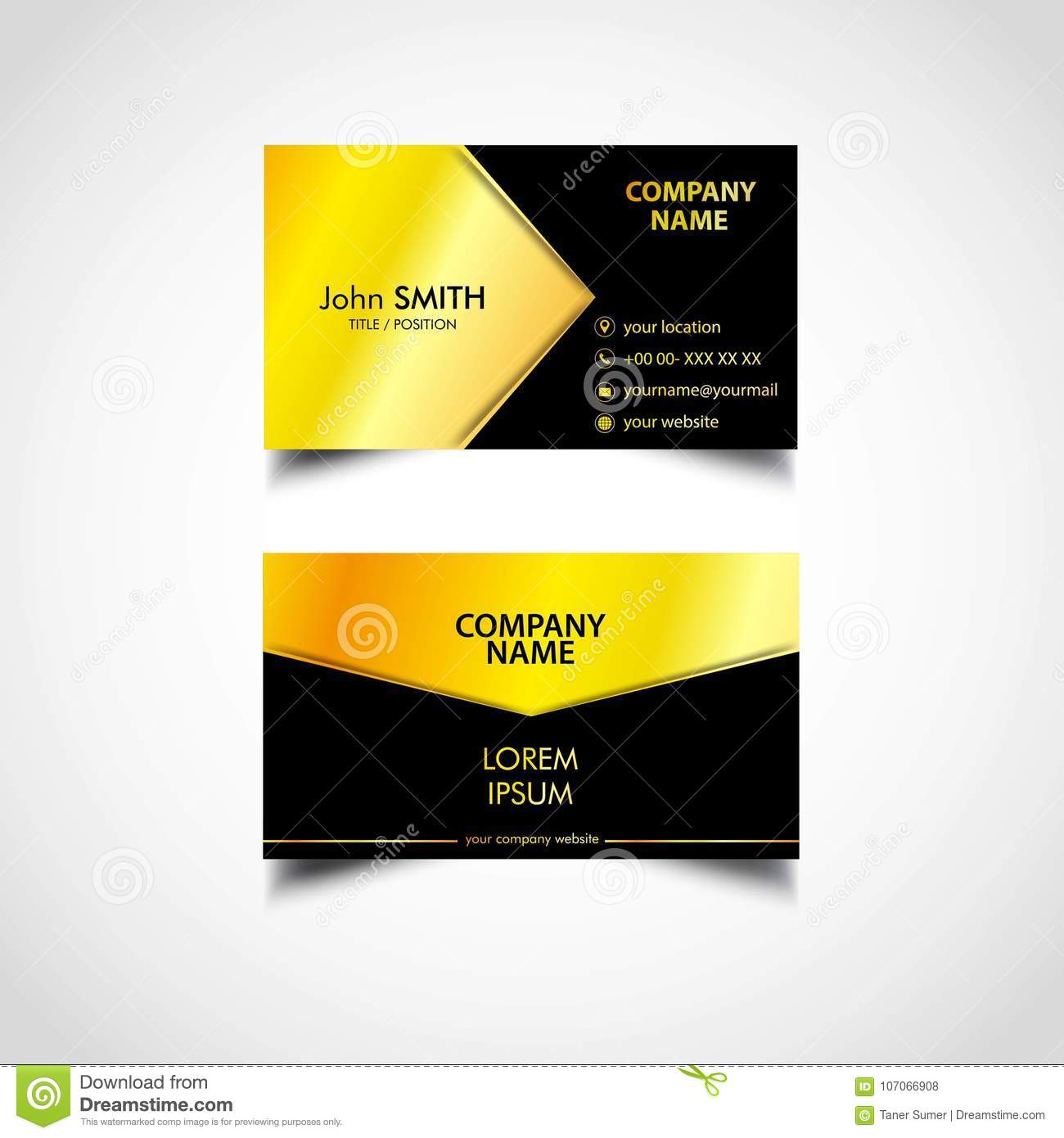 Golden luxury business card template us size eps file stock vector golden luxury business card template us size eps file fbccfo Choice Image
