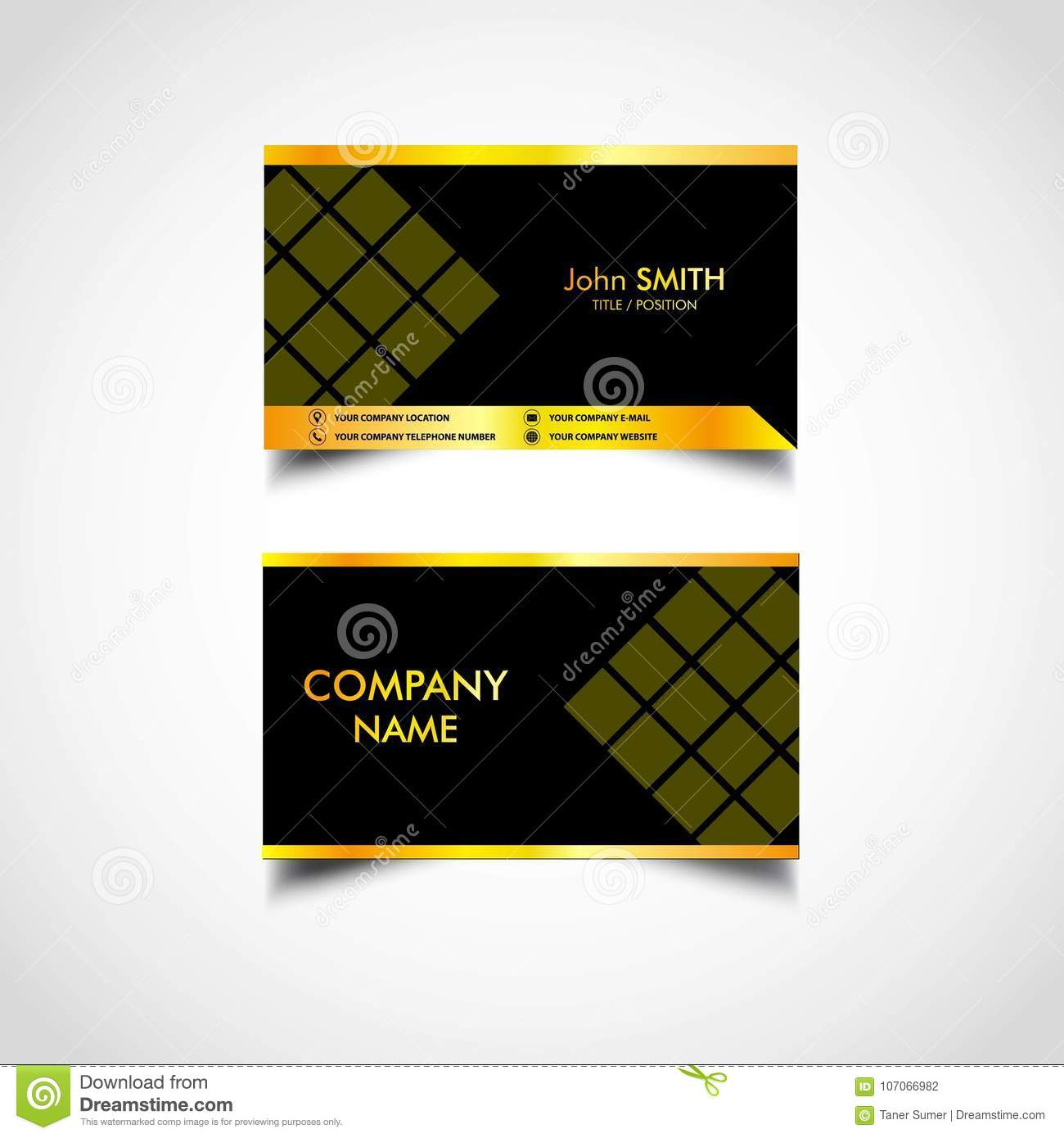 Golden luxury business card templatesvector illustration stock golden luxury business card templatesvector illustration royalty free vector reheart Images