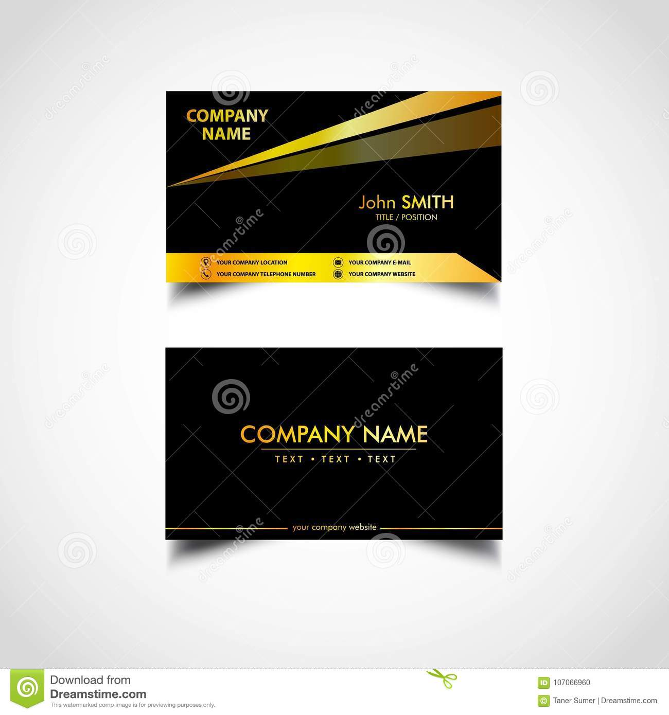 Golden luxury business card templatesvector illustration stock download golden luxury business card templatesvector illustration stock vector illustration of cool reheart Choice Image