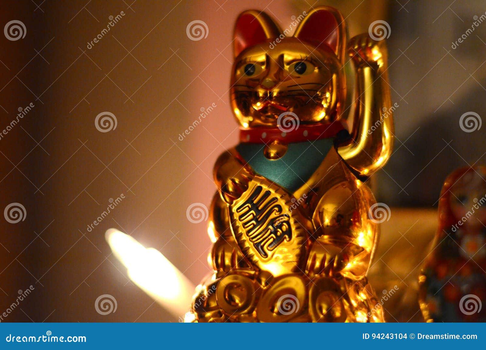 Golden Maneki Neko, the Lucky Cat