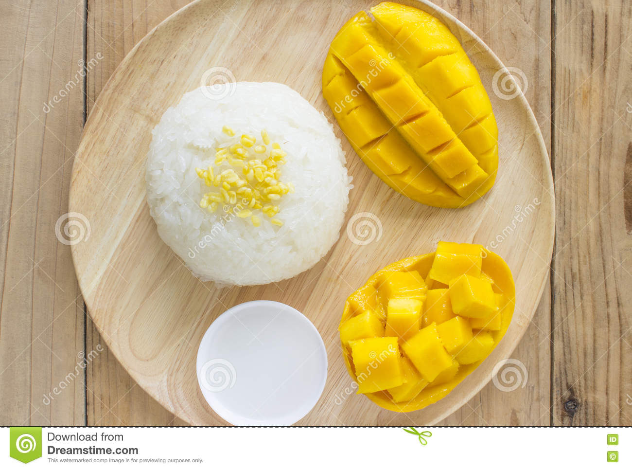 Golden Mango Sticky Rice To Eat Stock Photo Image: 72476451