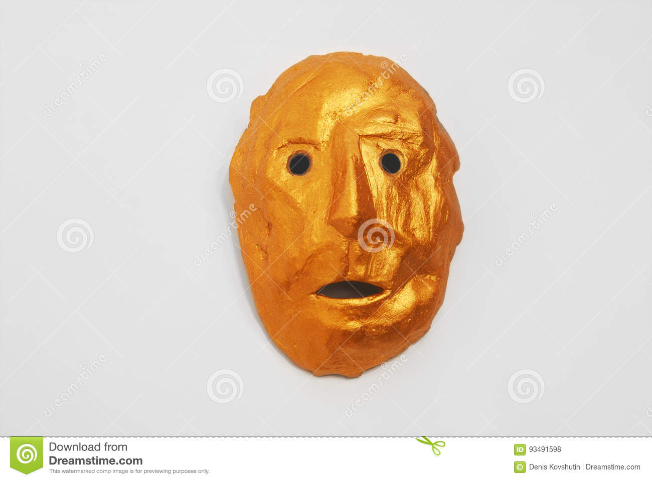 golden mask in the style of the aztec indians stock photo image of