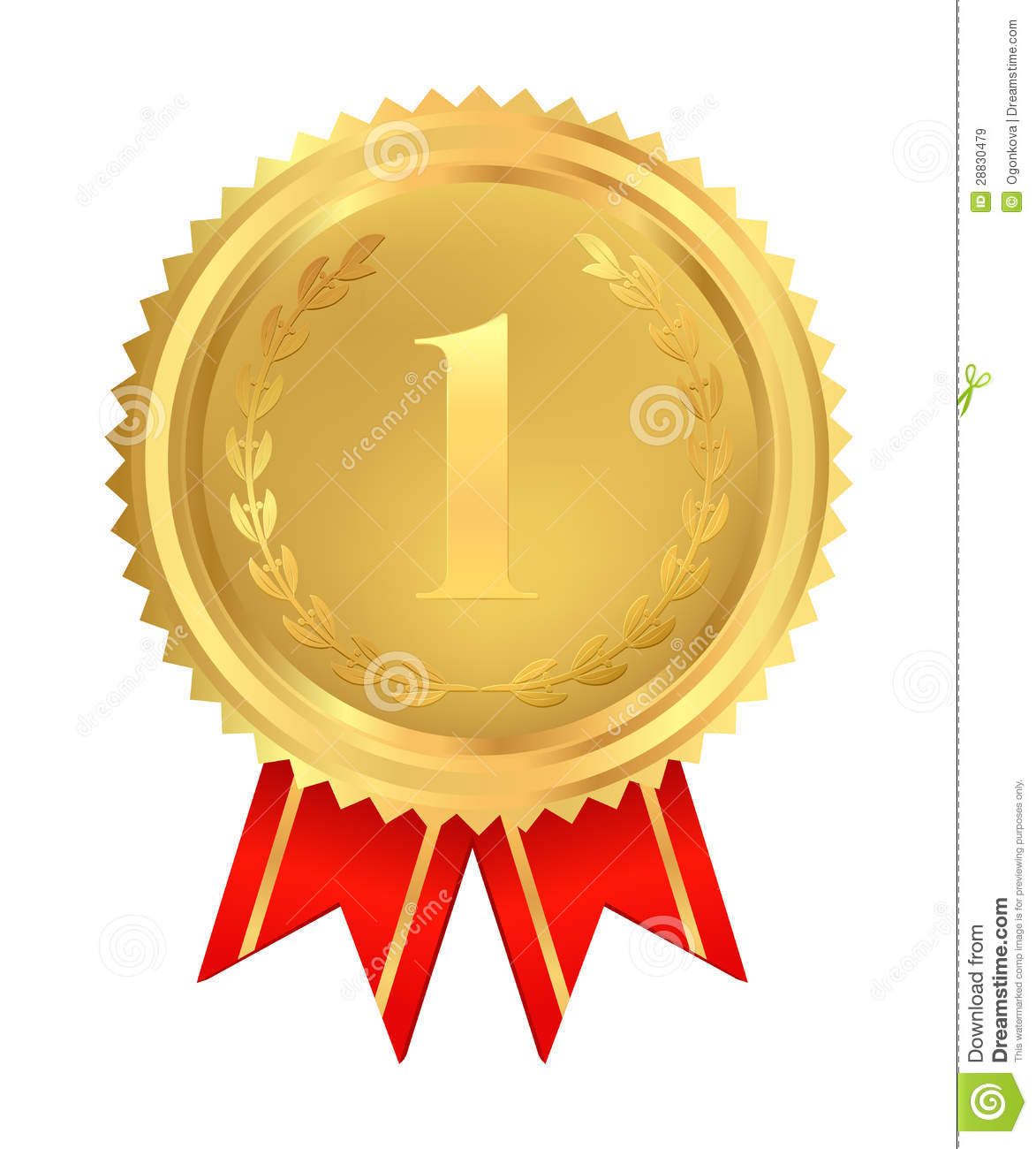 Golden medal of first place vector royalty free stock images image