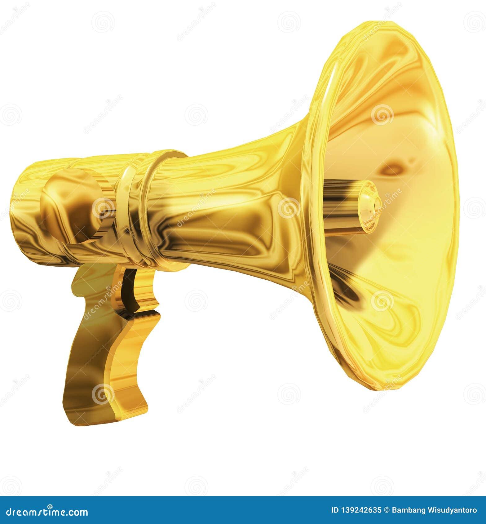 Golden Megaphone 3d, Marketing Symbol