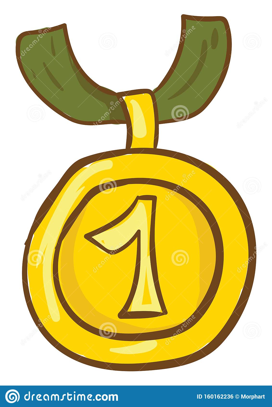 First /1st Place Gold Medal With Number 1 And Blue Ribbon Flat.. Royalty  Free Cliparts, Vectors, And Stock Illustration. Image 118532931.