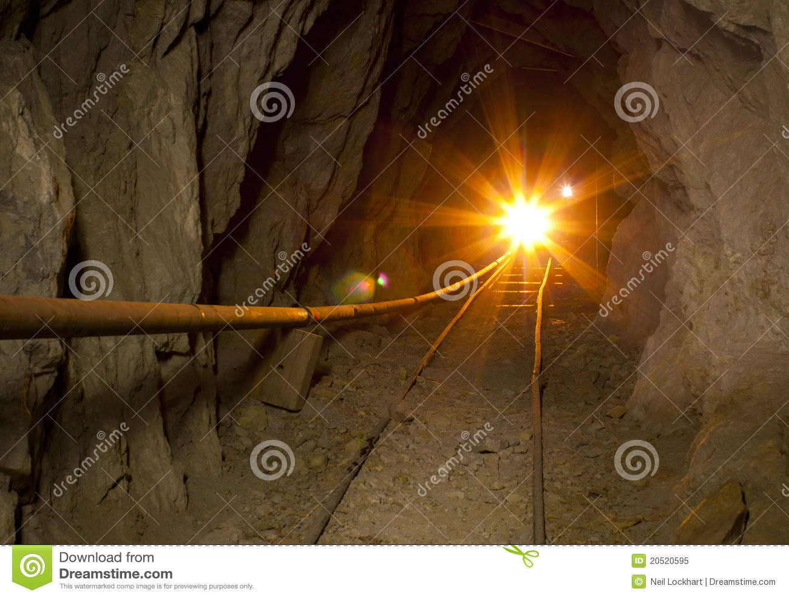 Golden Mine Tunnel Light