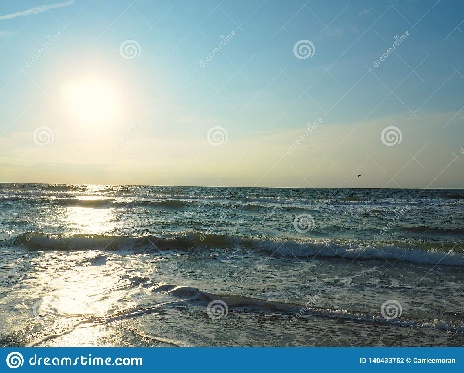The Atlantic Ocean At Carolina Beach Stock Photo Image Of