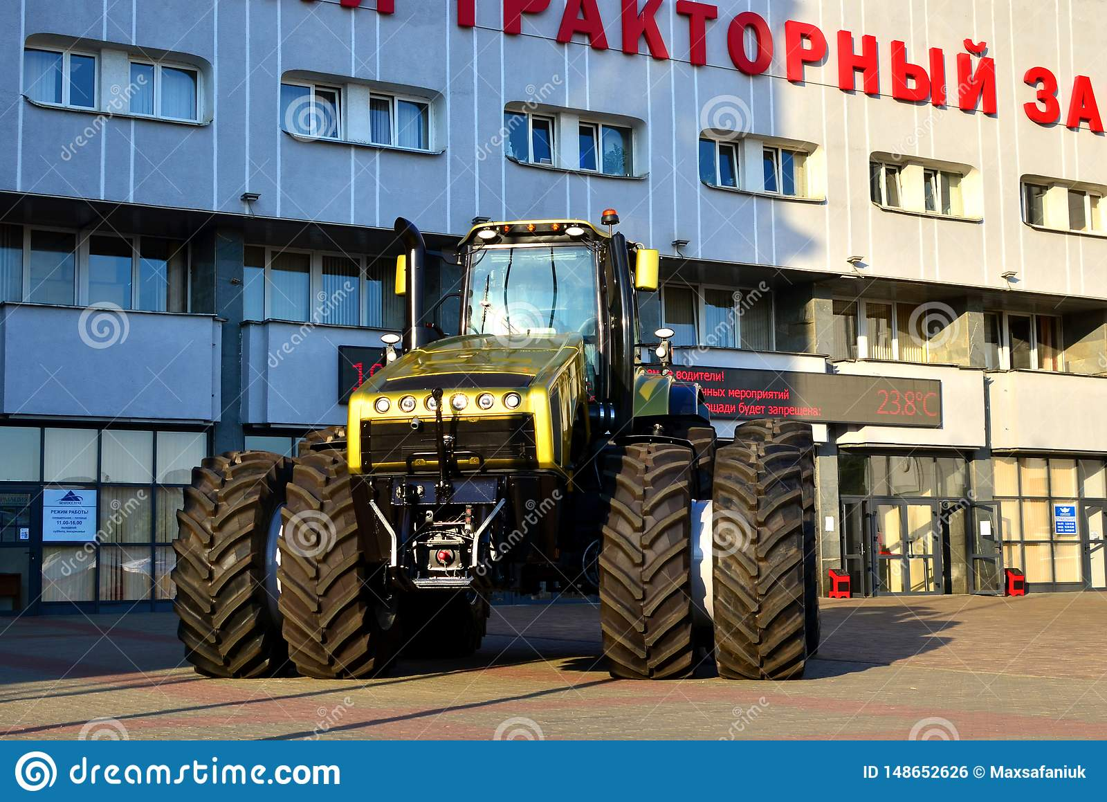 Golden the most powerful tractor `Belarus-5022` 500 hp made by Belarusian MTZ