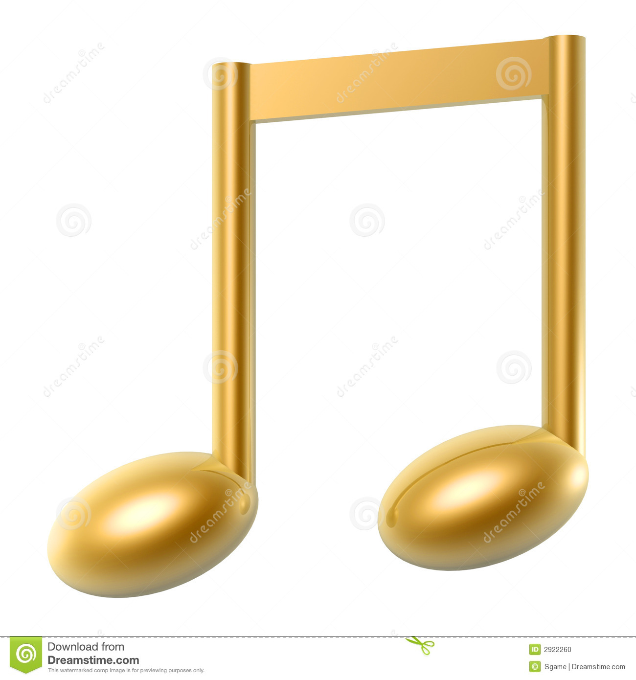 Musical notes staff background on white vector by tassel78 image - Golden Music Note Stock Photo