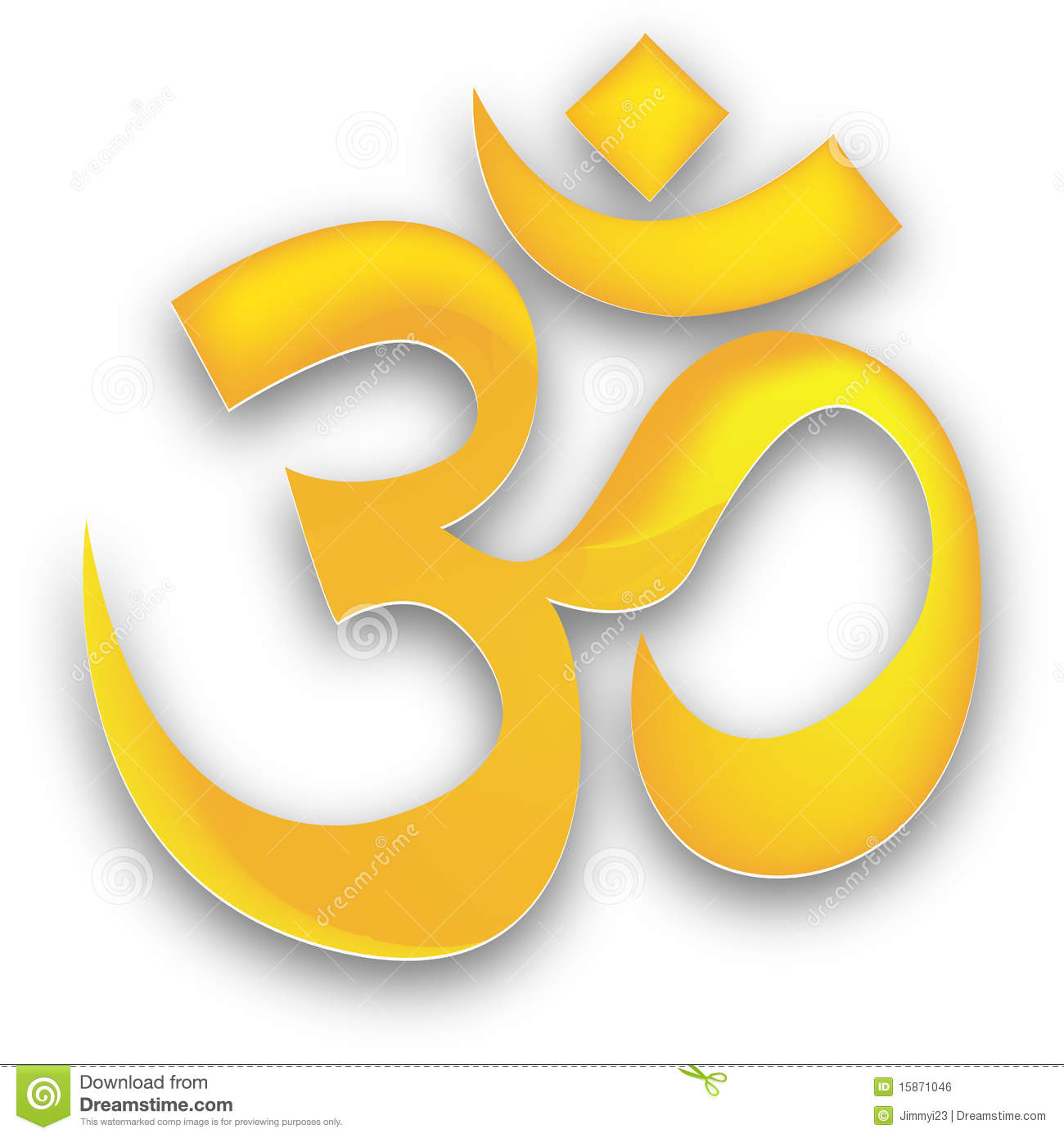 Golden Om Royalty Free Stock Image Image 15871046
