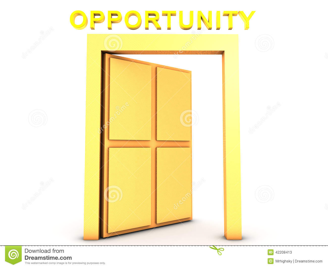 Download Golden Opportunity stock illustration. Illustration of welcome - 42208413