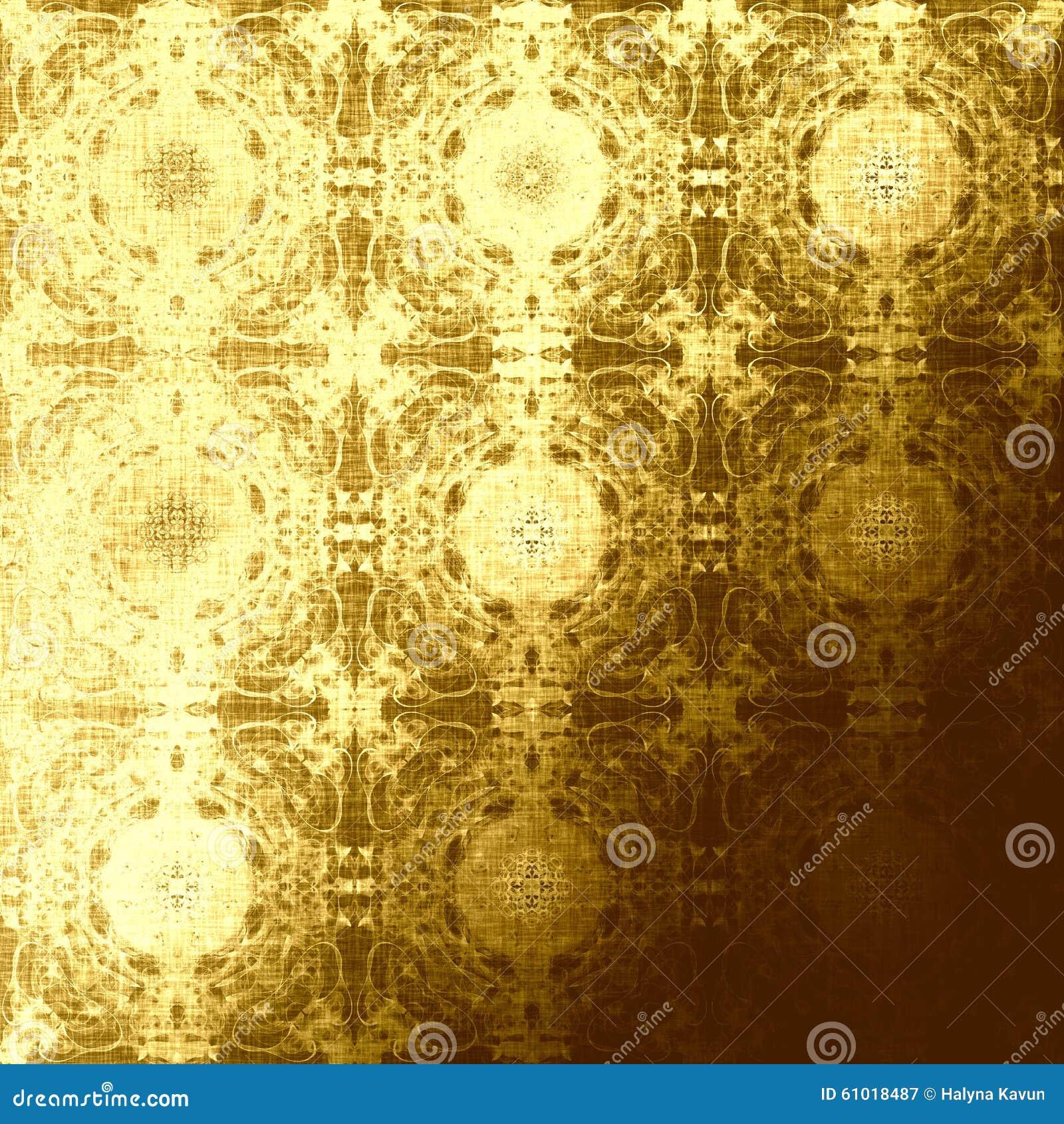Photo Page: Golden Oriental Pattern, Folk Traditional Elements Stock