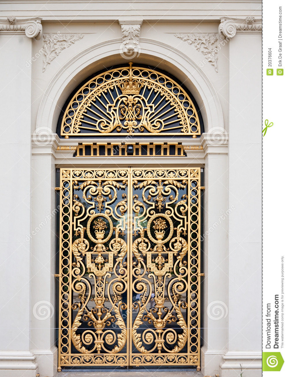 Golden Ornate Door Stock Images Image 20376604