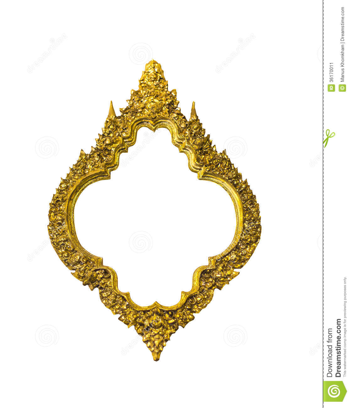Golden Oval Classic Frame Stock Image Image 36170011