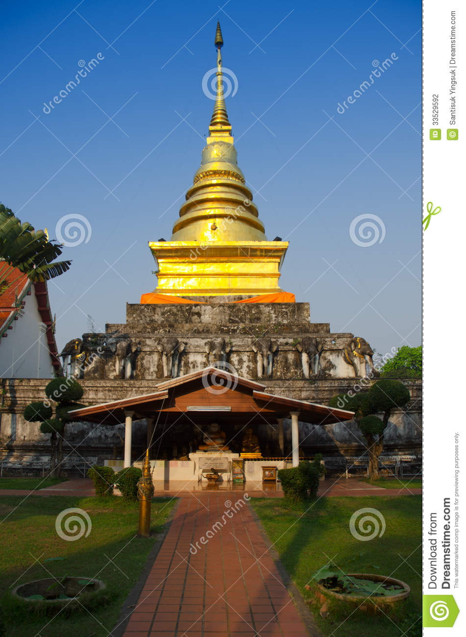 Nan Thailand  city photos gallery : Golden Pagoda at Nan Thailand.
