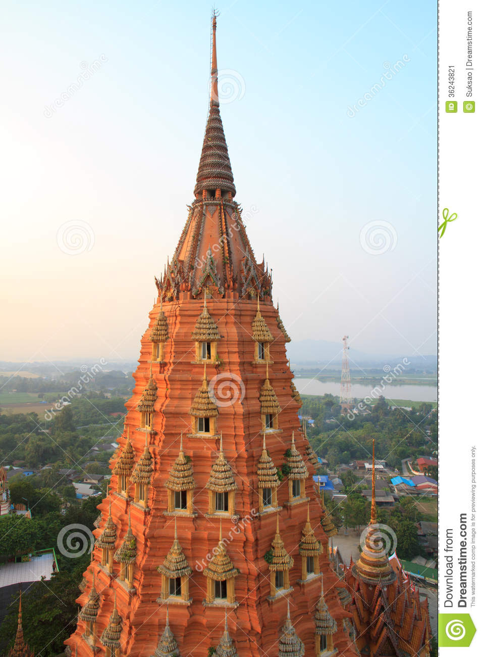 Uthai Thani Thailand  city images : Golden pagoda in temple, Uthai Thani Province, Thailand.