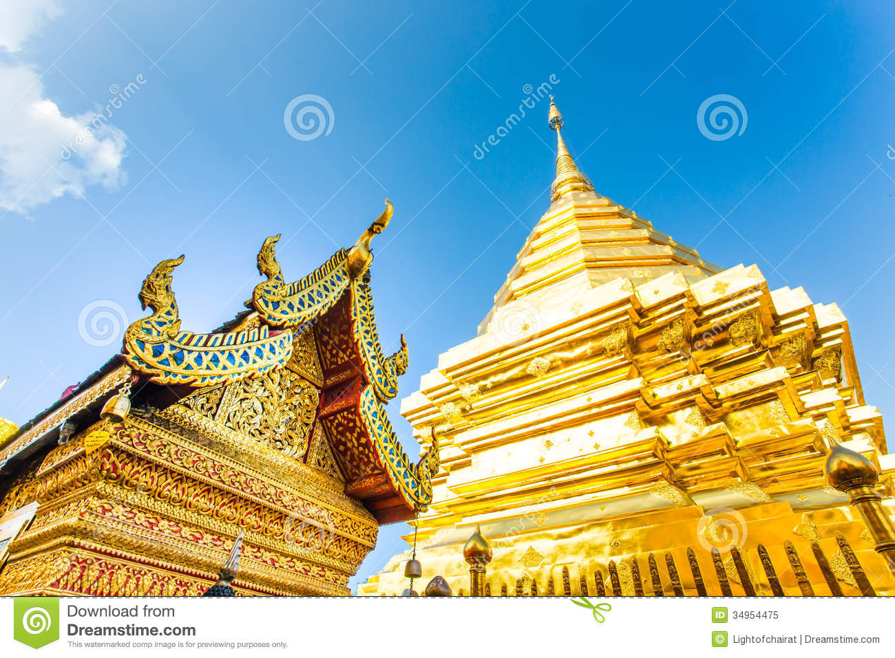 Golden Pagoda Wat Phra That Doi Suthep,chiangmai ,Thailand ...
