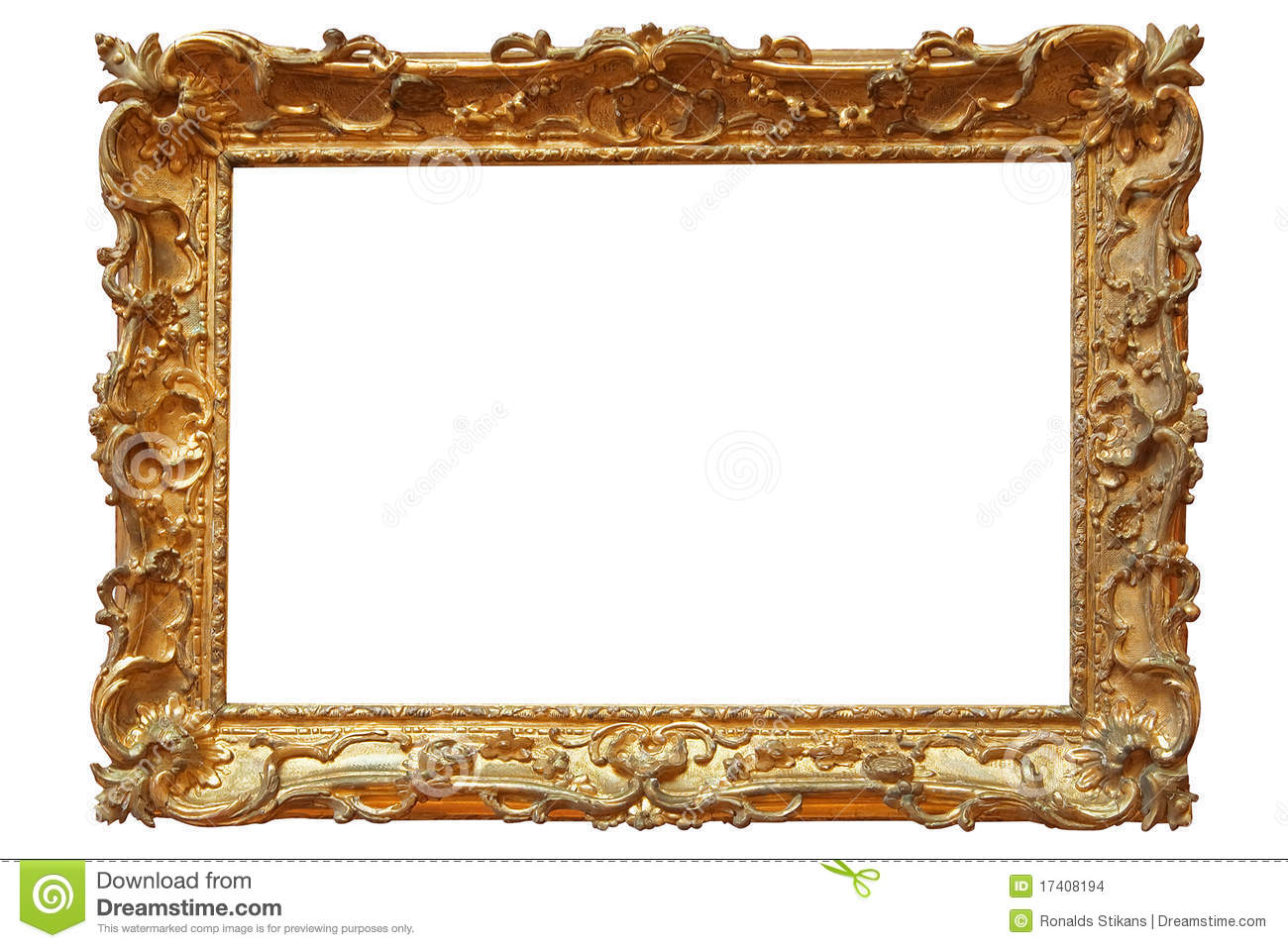 Golden Photo Frame Stock Photo Image Of Holder