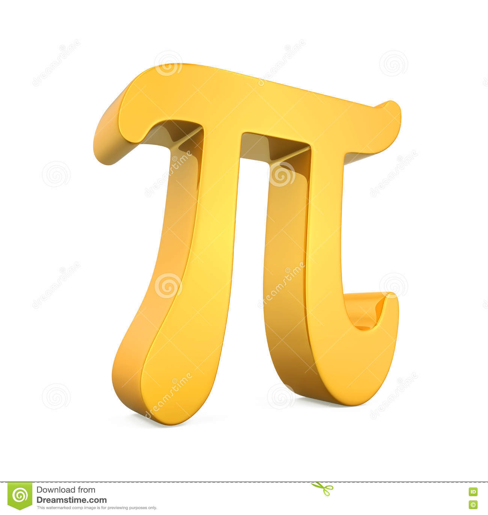 Golden Pi Symbol Stock Illustration Illustration Of Math 81770361