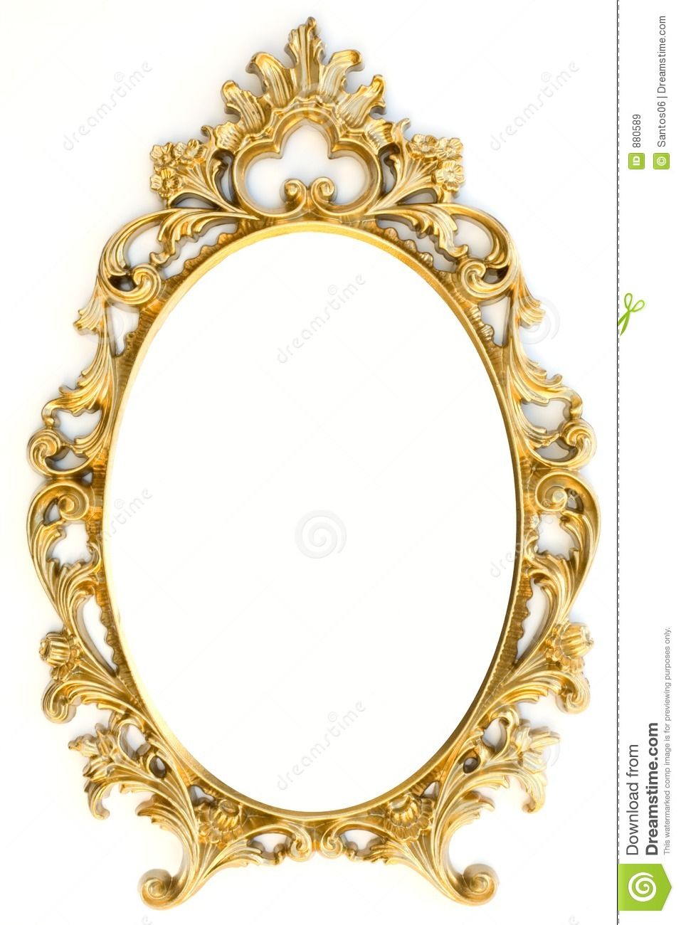 Golden Picture Frame Stock Image Image Of High Glisten