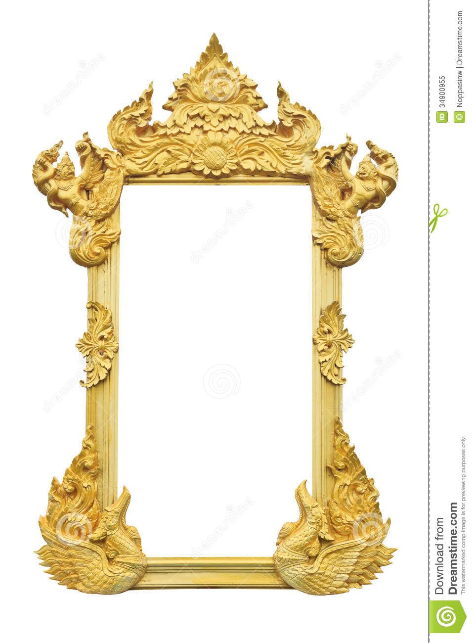 Golden picture frame stock image. Image of blank, frame - 34900955