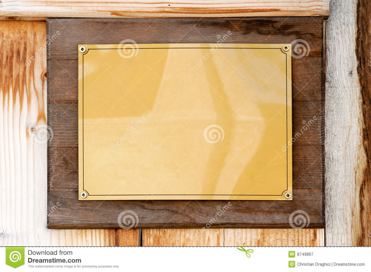 Golden plate stock image. Image of news, brushed, empty - 8749867