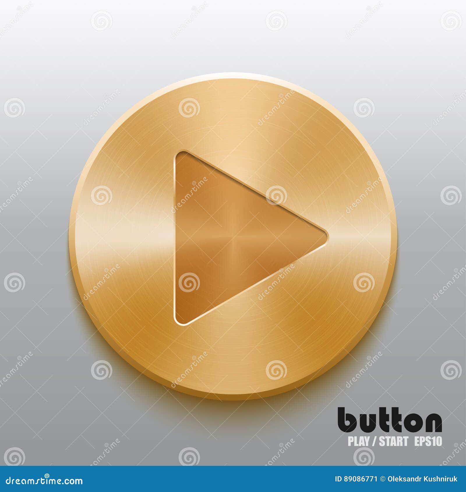 Golden play button