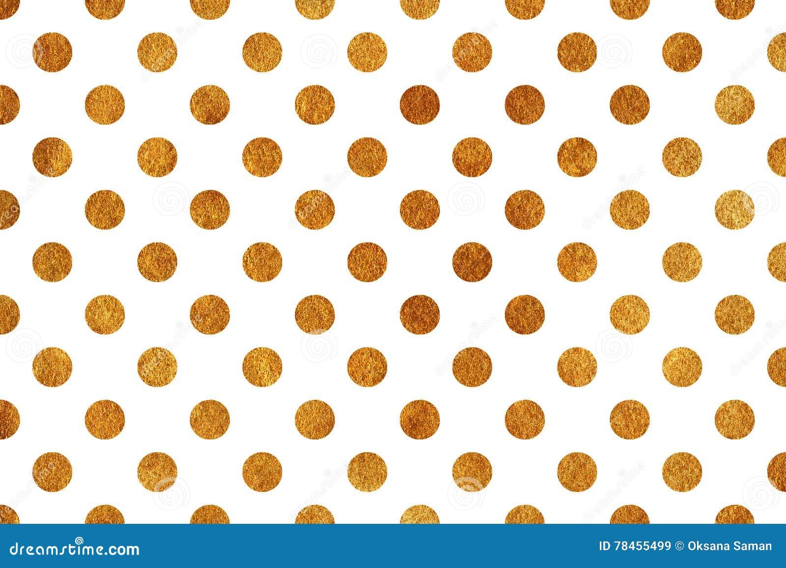 Golden Polka Dot Background Stock Illustration Illustration Of