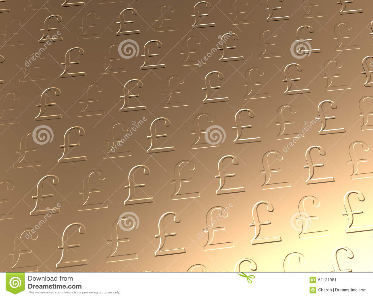 Golden Pound Sterling Currency Background Stock Image Image Of