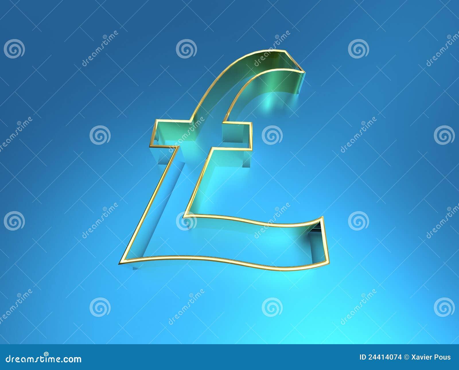 Golden Pound Symbol Stock Illustration Illustration Of Investment