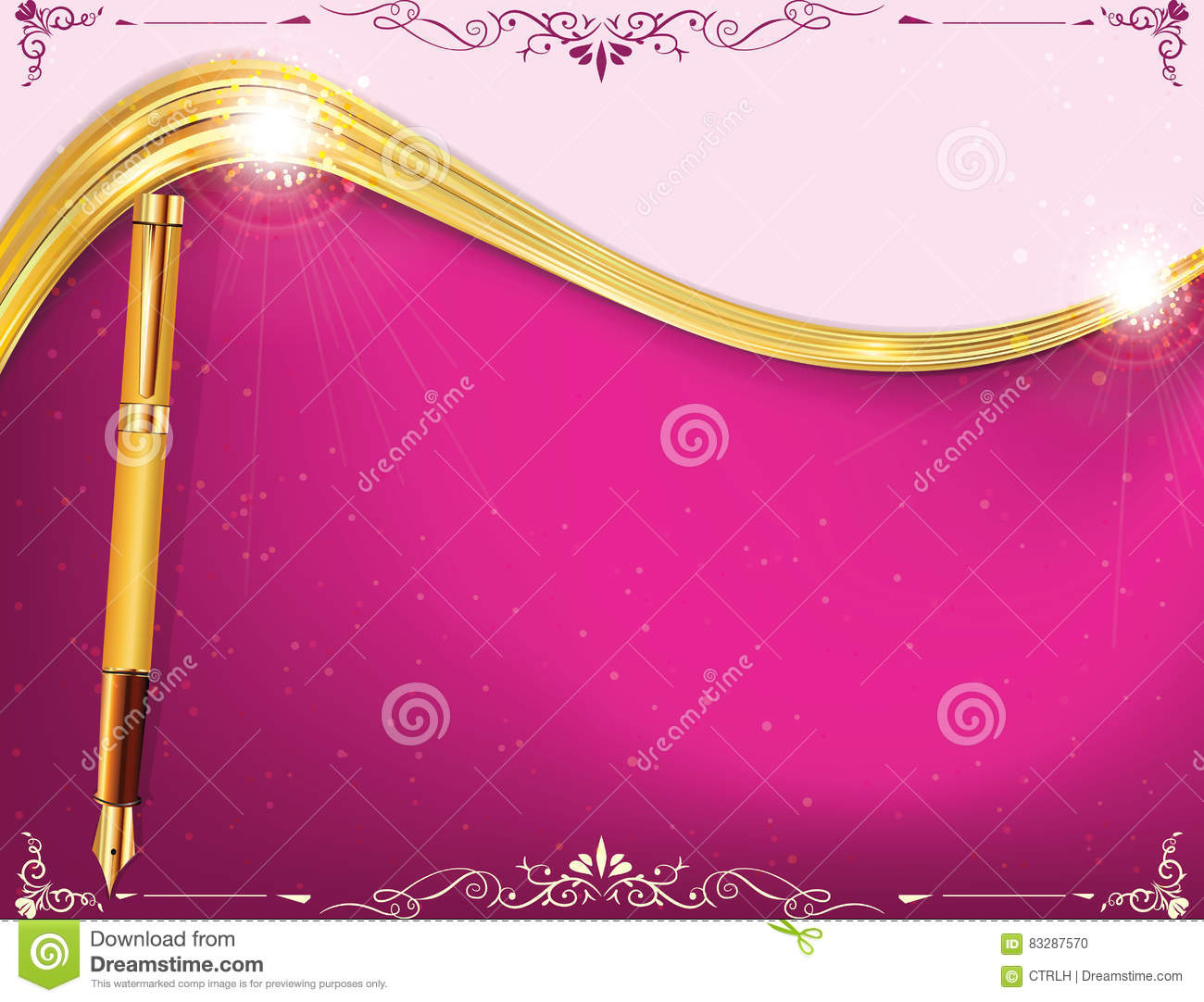 Golden Purple Elegant Background For Any Occasion Stock Illustration