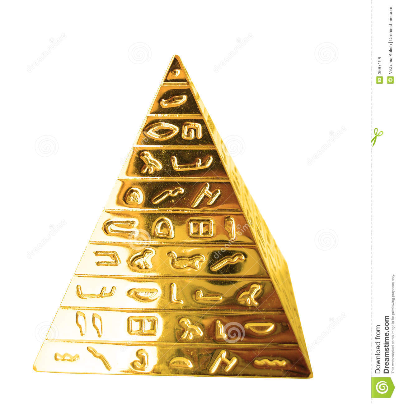 Golden Pyramid Royalty Free Stock Image - Image: 3697196