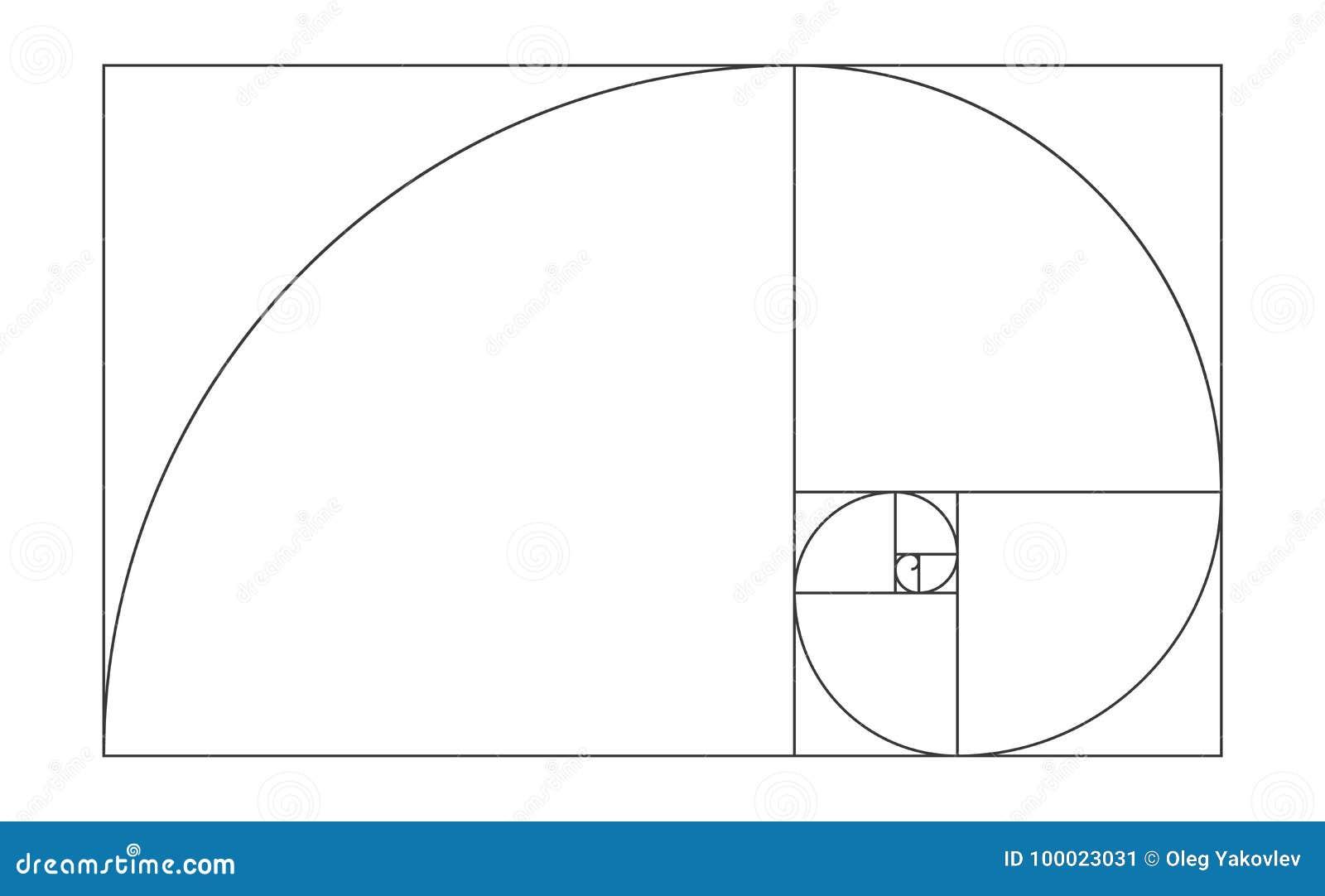 golden ratio template illustration stock illustration illustration