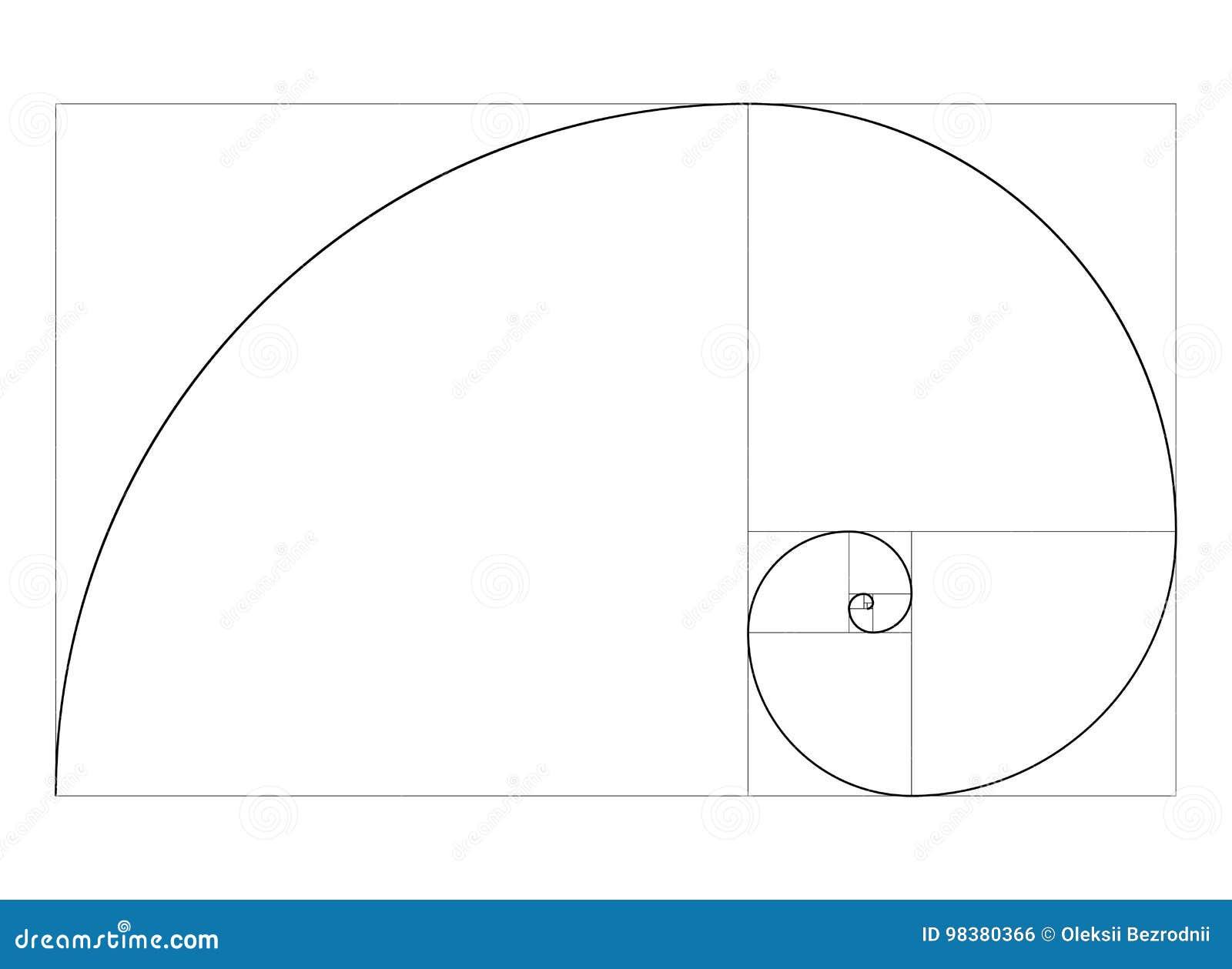 golden ratio template vector stock vector illustration of ideal