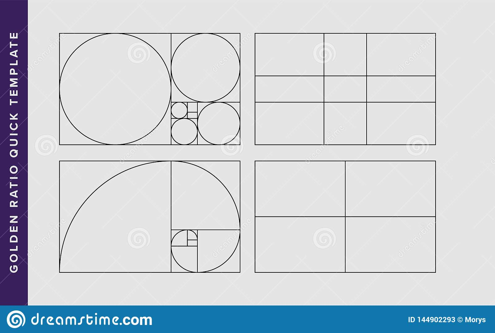 graphic about Golden Rule Printable titled Golden Ratio Vector Design and style Template Inventory Vector
