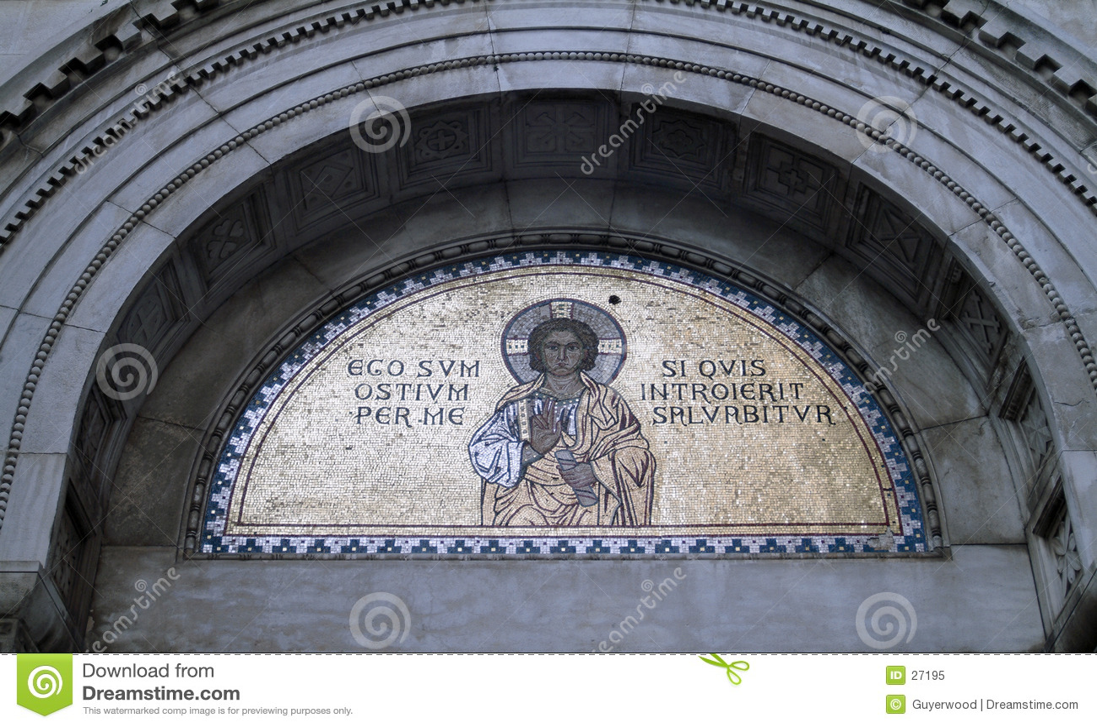 Golden religious mosaic