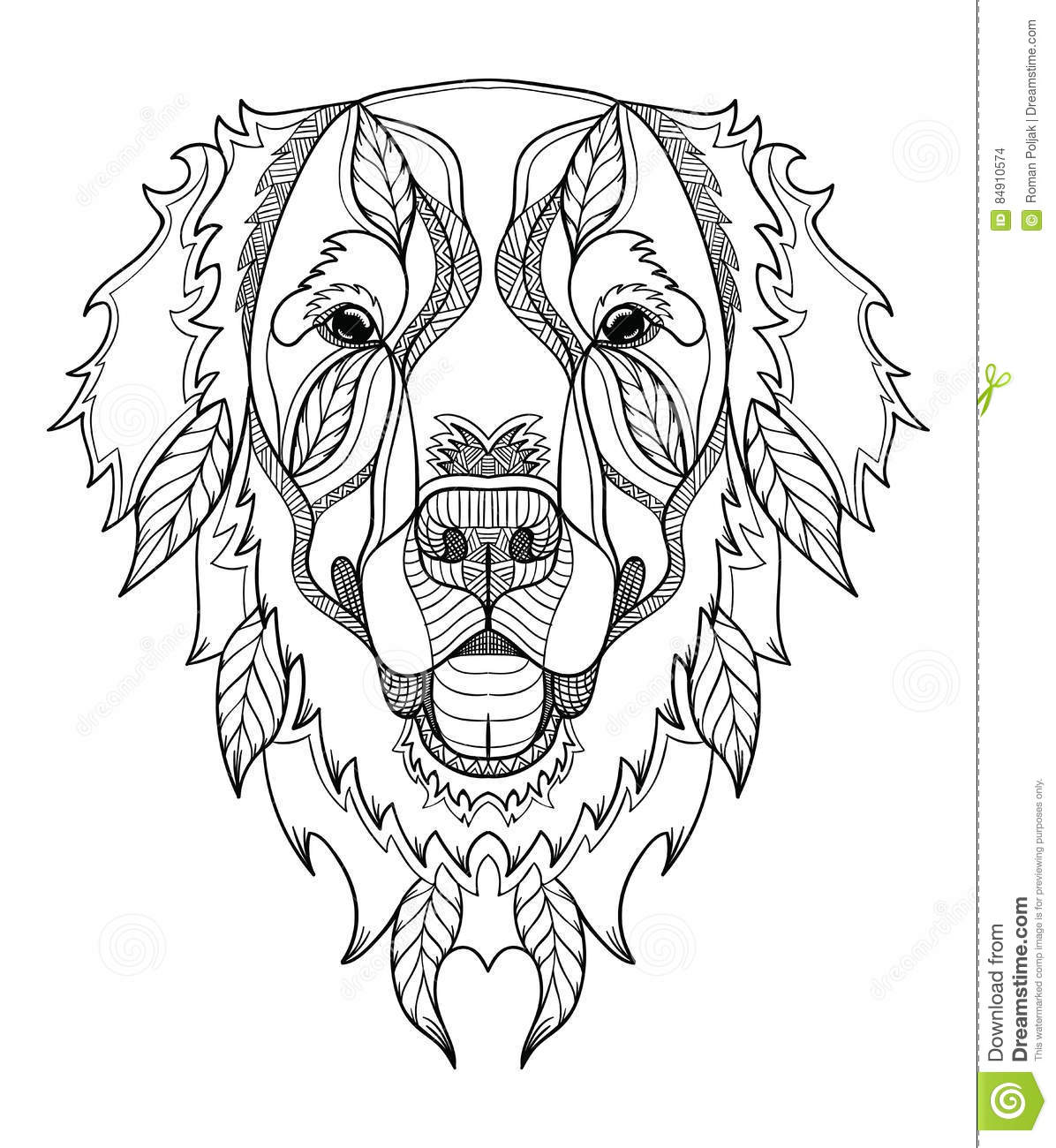 Adult Coloring Pages Golden Retriever