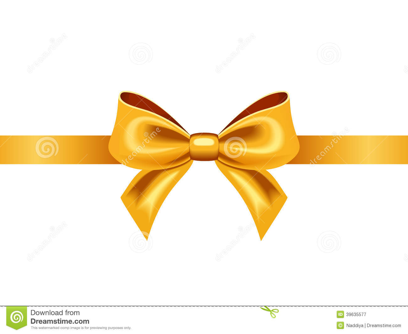 golden ribbon with bow vector illustration stock vector bow clip art images free bow clipart free